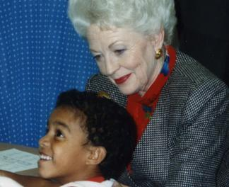 Governor Ann Richards visiting MOVE IT Math